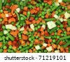 Closeup of a frozen mixed vegetables - stock photo