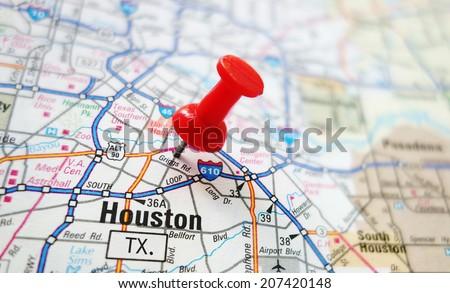 Houston Map Stock Images RoyaltyFree Images Vectors Shutterstock - Houston in us map