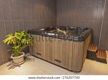 Closeup of a jacuzzi in private room of luxury health spa - stock photo