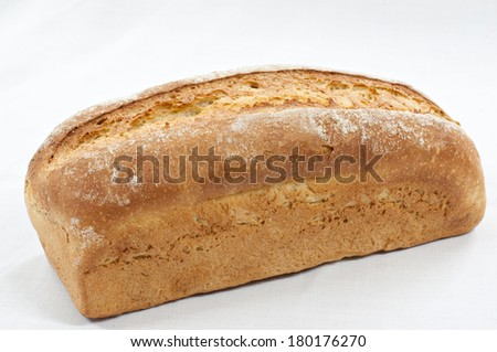 Closeup of a loaf of bread ecological