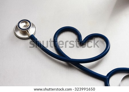 Closeup of a medical stethoscope