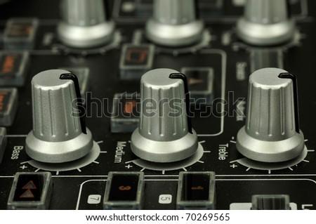 Closeup of a mixer - stock photo