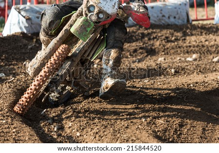 Closeup of a motocross bike - stock photo