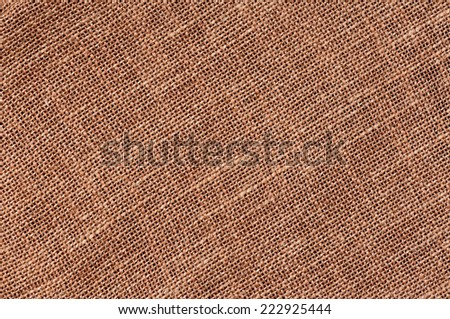 Closeup of a natural burlap texture for the background - stock photo