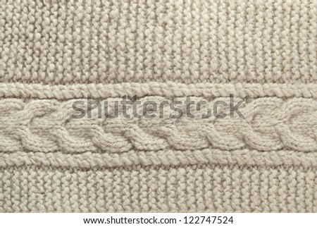 Closeup of a piece of knit fabric - stock photo