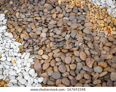 closeup of a pile of pebbles  - stock photo