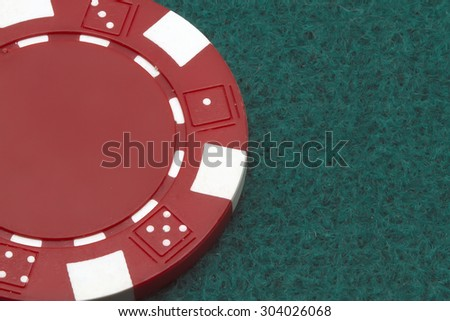 closeup of a poker chip - stock photo