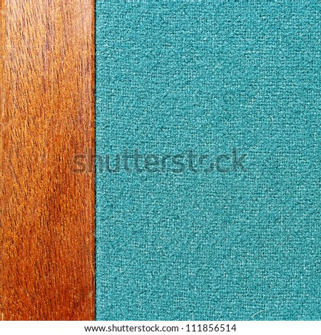 Closeup of a poker table with green felt texture - stock photo