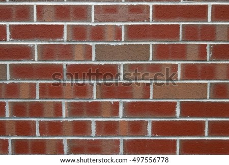 closeup of a red brick wall for backgrounds