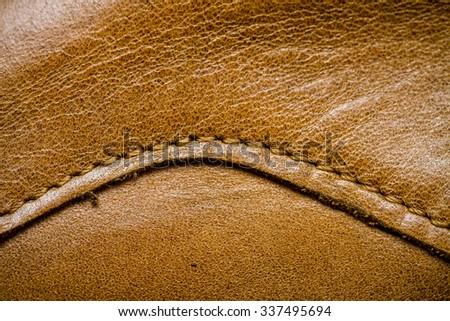 Closeup of a seamless black leather texture - stock photo