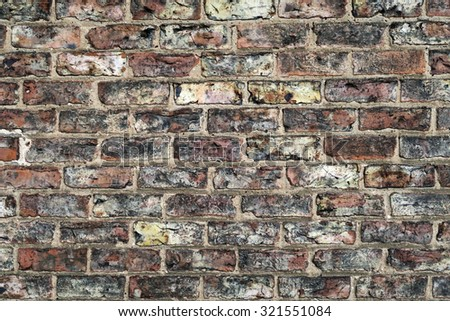 Closeup of a section of a house brick wall - stock photo