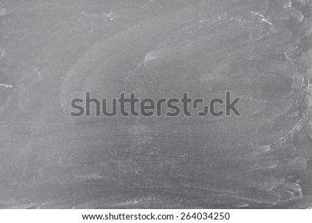 Closeup of a section of blackboard with wiped chalk marks - stock photo