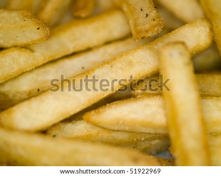 Closeup of a Serving of Seasoned French Fries