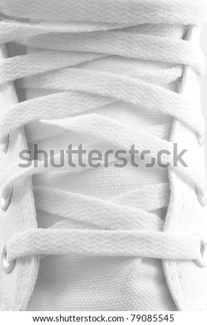 closeup of a shoelace