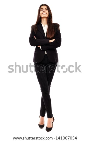 Closeup of a successful arab businesswoman with her arms folded - stock photo