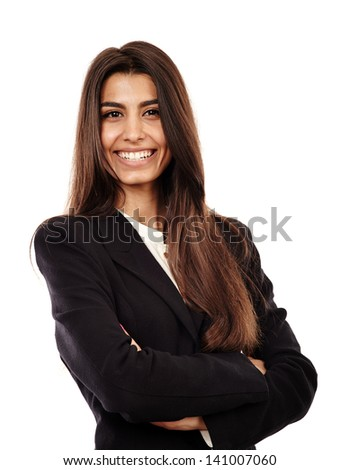Closeup of a successful arab businesswoman with her arms folded