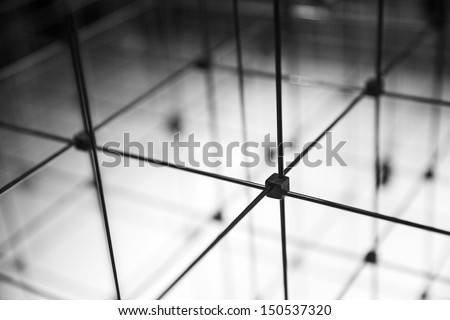 Closeup of abstract cubical grid