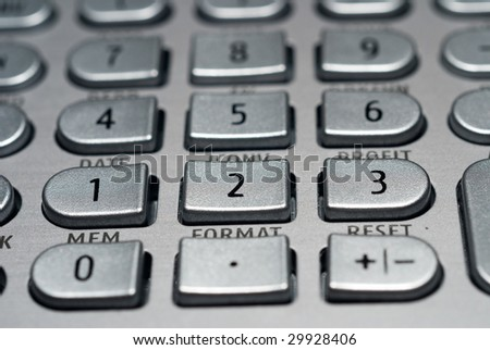 closeup of advanced financial analysis calculator background