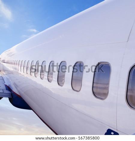 Closeup of Airplane Cockpit  raw  - stock photo