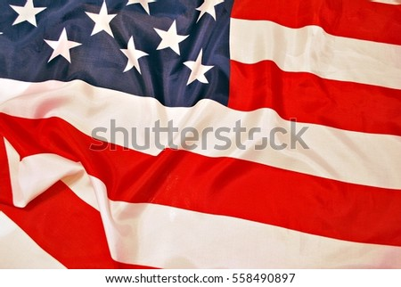 Closeup of American flag