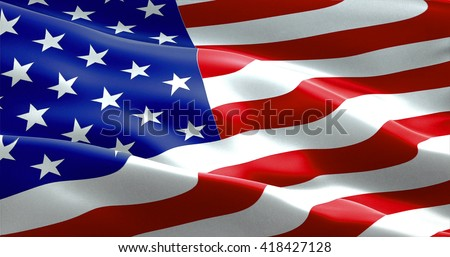 closeup of american USA flag, stars and stripes, united states of america  - stock photo