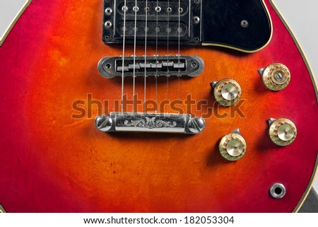 Closeup of an electric guitar picks  - stock photo