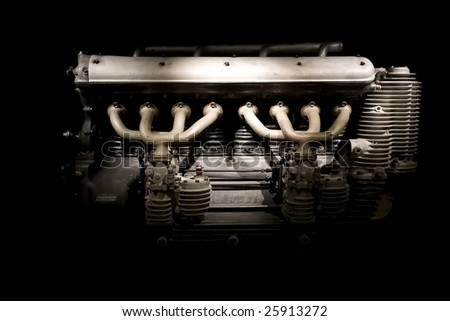 Closeup of an engine. - stock photo