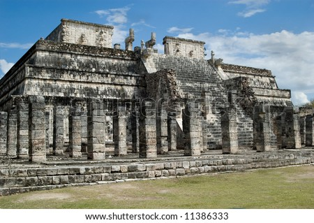 Closeup of Ancient Mayan ruins