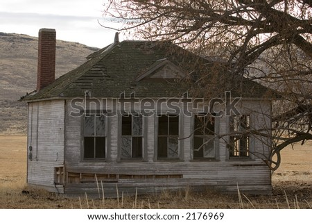 Closeup of and old school house