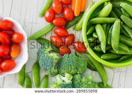 Closeup of assorted  vegetables.