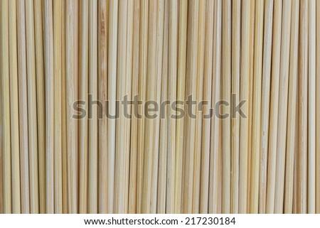 closeup of bamboo mat background. - stock photo