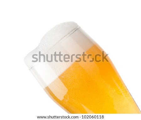 Closeup of beer - stock photo