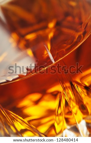 closeup of beverage cognac background - stock photo