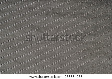 Closeup of black striped fabric texture  - stock photo