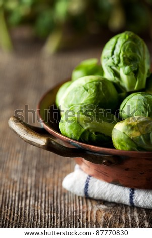 closeup of brussels sprouts - stock photo