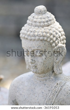 closeup of budha statue - stock photo