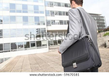 Closeup of business briefcase - stock photo