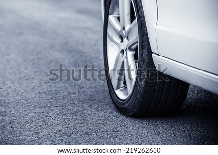closeup of car - stock photo
