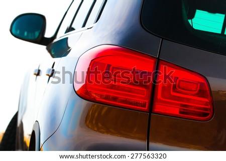 Closeup of car backlight - stock photo
