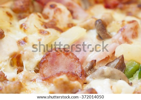 closeup of center of pizza