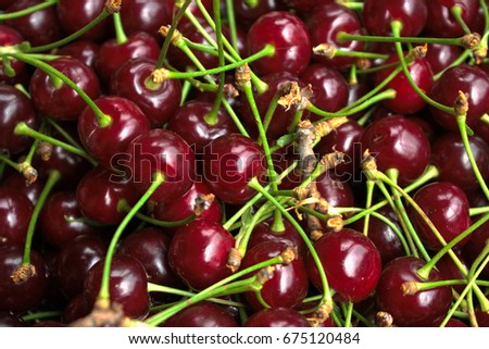 Closeup of cherries for background/texture