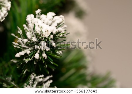 Closeup of Christmas tree