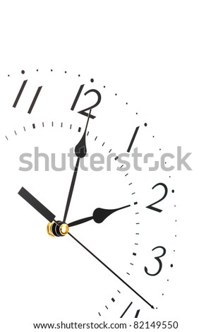 Closeup of clock face. - stock photo