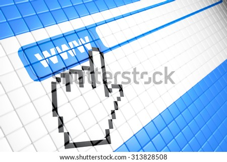 Closeup of computer screen with Contact Us Browser button  - stock photo