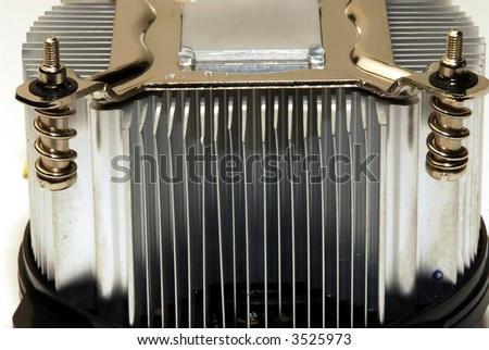 closeup of cpu cooler - stock photo