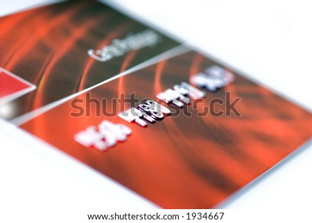 closeup of credit card isolated - stock photo