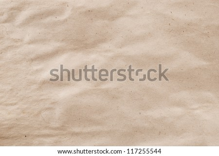 Closeup of crumpled paper texture for art design. - stock photo