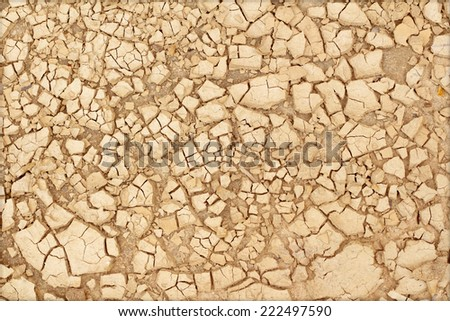 Closeup of dry soil texture - stock photo