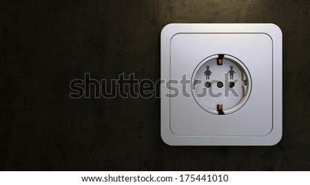 Closeup of electrical outlet, as man and woman connection concept