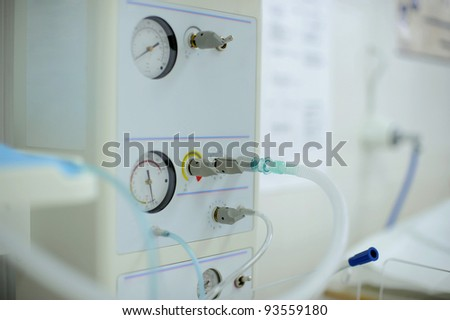 Closeup of electronic equipment at maternity clinic's room - stock photo